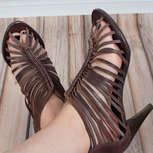 Crown Vintage Shoes - CROWN Vintage Knotted Heeled Sandals